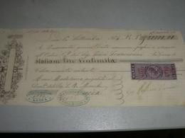 CAMBIALE 1864 SIENA CON MARCA DA BOLLO - Cambiali