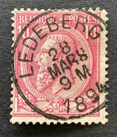 Leopold II OBP 46 - 10c Gestempeld LEDEBERG - 1884-1891 Leopoldo II