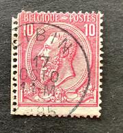 Leopold II OBP 46 - 10c Gestempeld LIBIN - 1884-1891 Leopoldo II