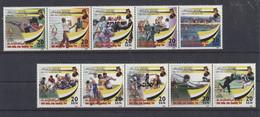Brunei 1999 MiNr. 559/68 - Postfrisch - MNH - ** - 2 5er-Streifen - Brunei (1984-...)