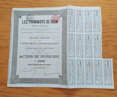 1905 Titre Dividende - Aandeel - Les Tramways De Kiew - S - V