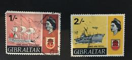 (stamp 7-5-2021) Gibraltar - 2 Used Stamps (as Seen) - Gibraltar