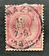Leopold II OBP 46 - 10c Gestempeld MAZY - 1884-1891 Leopoldo II