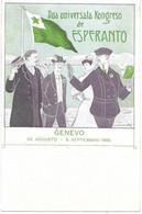 SUISSE  -  ESPERANTO - GENEVO - KONGRESO UNIVERSALA DU  28/08 Au 6/09/1906 - R. De Coninck - - Esperanto