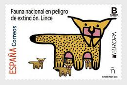 Spain.2021.Europa CEPT.Endangered National Wildlife.1 V. ** . - 2020