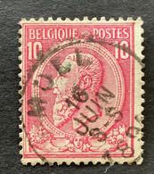 Leopold II OBP 46 - 10c Gestempeld MOLL - 1884-1891 Leopoldo II