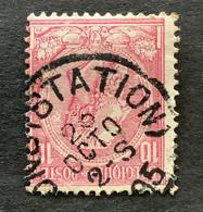 Leopold II OBP 46 - 10c Gestempeld MONS STATION - 1884-1891 Leopoldo II