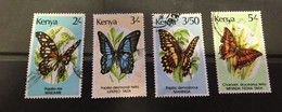 (stamp 7-5-2021) Kenya - 4 Used Stamps (Butterfly) - Kenya (1963-...)