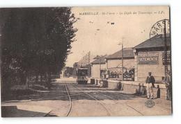 CPA 13 Marseille St Saint Pierre Le Depot Des Tramways - Altri