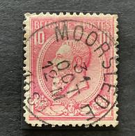 Leopold II OBP 46 - 10c Gestempeld MOORSLEDE - 1884-1891 Leopoldo II