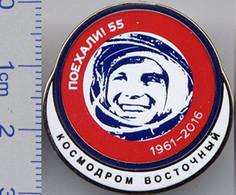 183-3 Space Russian Pin. Gagarin 55 Anniversary. Cosmodrome Vostochny - Spazio
