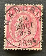 Leopold II OBP 46 - 10c Gestempeld NANDRIN - 1884-1891 Leopoldo II