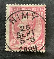 Leopold II OBP 46 - 10c Gestempeld NIMY - 1884-1891 Leopoldo II