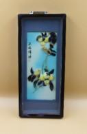 Tableaux Chinois , Incrustations D'oiseaux Et De Fleurs En Nacre XIX Eme - Art Asiatique