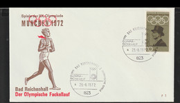 Germany Cover 1972 Olympic Games In München - Torch Relay Bad Reichenhall  (G130-12) - Summer 1972: Munich