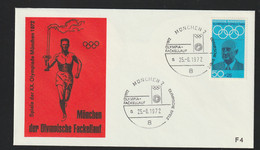 Germany Cover 1972 Olympic Games In München - Torch Relay München (G130-12) - Summer 1972: Munich