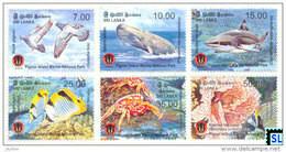 Sri Lanka Stamps 2014, Pigeon Island Marine National Park, Birds, Fish, Coral, Whale, Shark, Crab, MNH - Sri Lanka (Ceylon) (1948-...)