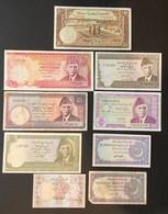9 X Banknotes From Pakistan - Pakistan