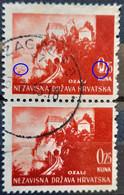 LANDSCAPES-0.25 K-OZALJ-PAIR-ERROR DUCK-RARE-NDH-CROATIA-1941 - Croatia