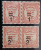 France Timbres Taxe YT N° 53/54 En Paires Neufs ** MNH. TB. A Saisir! - 1859-1955 Postfris