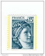 Sabine 0.15fr Bleu Vert YT 1966e : 2 Demies Bandes Phospho . Voir Le Scan. Cote YT : 15 € , Maury N° 1966a : 25 € - Varietà: 1970-79 Nuovi