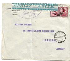 Egy249 / ÄGYPTEN - Sphinx Im Paar 1916 In Die Schweiz Berne) Passed By Censor Nr. 19 - 1915-1921 British Protectorate