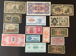 15 X Asian Banknotes Incuding  Kwangtung Provincial Bank - Hong Kong