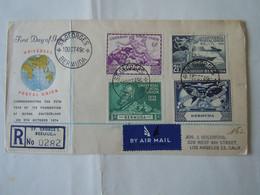 BERMUDA  1949 COVER UNION POSTAL 4 STAMP TO USA AIR MAIL - Bermudes