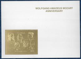 Guyana 1992 Mozart Anniversary Durer Curie Karpov Einstein Harris Gold S/S Or MNH** Very Rare - Music