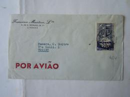 PORTUGAL  COVER  1952 TO ITALIA TORINO POR AVIAO - Covers & Documents