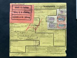 TR39, TR46 (2x) En TR47 (2x) !!!! Bulletin D'expedition Expres / Verzendingsbulletijn Expres VERVIERS OUEST NR 2 - 1895-1913