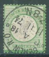 REICH - USED/OBLIT.- 11.11.1874 - 1/3 Gr  BERLIN N.O. CANCELLATION BIG EAGLE -  Mi 17 Yv 14 - Lot 23520 - Gebruikt