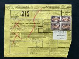 "TR41 (4x) Bulletin D'expedition Expres / Verzendingsbulletijn BOOM NR 2 ""POIDS RECONNU A BOOM"" - 1895-1913"