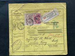 TR21 En TRTR26 Bulletin D'expedition / Verzendingsbulletijn BRUXELLES NORD 28 DECE 1898 - ZWITSERLAND - 1895-1913