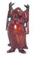 Petit Bouddha En Bois Exotique - Art Asiatique