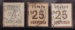 Alsace-Lorraine YT N° 3 Et N° 7 (2) Oblitérés. B/TB. A Saisir! - Alsace-Lorraine