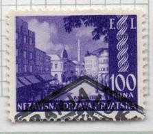 37CRT861 - CROAZIA 1941 , Unificato N. 57  Usato : Soprastampa FI - Kroatien