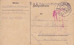 Feldpostkarte K.u.k. Infanterieregiment Nr. 11 - Nach Zwiesel - Zensur - 1916 (56163) - Cartas