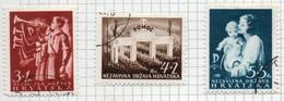 37CRT865 - CROAZIA 1942 , Unificato N. 59/61  Usato - Kroatien