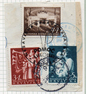 37CRT866 - CROAZIA 1942 , Unificato N. 59/61  Usato - Kroatien