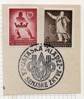 37CRT864 - CROAZIA 1942 , Unificato N. 62/63  Usato - Kroatien