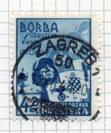 37CRT863 - CROAZIA 1941 , Unificato N. 49  Usato. Crociata - Kroatien