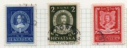 37CRT868 - CROAZIA 1943 , Unificato N. 95/97  Usato. - Kroatien