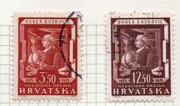 37CRT869 - CROAZIA 1943 , Unificato N. 98/99  Usato. - Kroatien