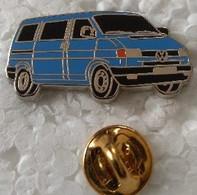Pin's - Automobiles - Volkswagen - V W - COMBI Bleu - Signé DECAT PARIS - - Volkswagen
