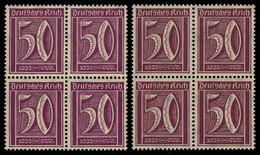 183 Ziffern 50 Pf. WZ Waffeln, Je Ein Viererblock In Farbe A Und B ** - Unclassified