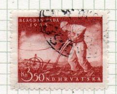 37CRT874 - CROAZIA 1945 , Unificato N. 139  Usato. - Kroatien