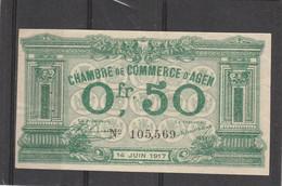 Chambre Commerce AGEN - Billet 0, 50 Franc - 14/6/1917 - 105569 - Cámara De Comercio