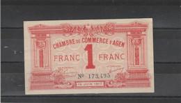 Chambre Commerce AGEN - Billet 1 Franc - 14/6/1917 - 173495 - Cámara De Comercio