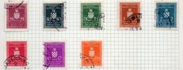 37CRT876A - CROAZIA 1942 , Servizio Otto Valori Con Carta Sottile (thin) Usati. Crt - Kroatien